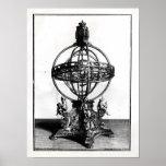 Una esfera armilar del sistema Copernican Póster