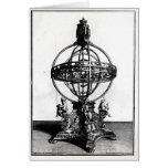 Una esfera armilar del sistema Copernican Tarjeta De Felicitación