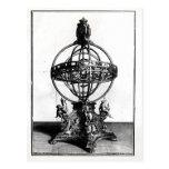 Una esfera armilar del sistema Copernican Tarjetas Postales