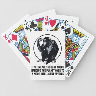 Una especie más inteligente barajas de cartas