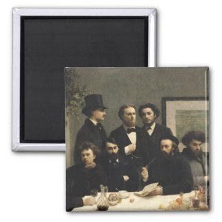 Una esquina de la tabla, 1872 imán cuadrado