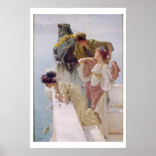 Una esquina de ventajoso, 1895 (aceite en lona) posters