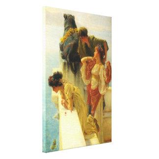 Una esquina de ventajoso de Alma Tadema Impresión En Lienzo Estirada