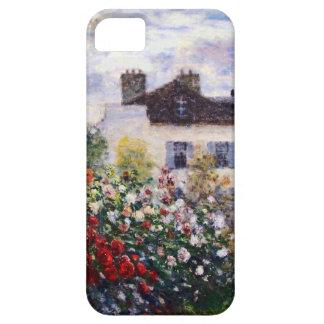 Una esquina del jardín con las dalias de Monet iPhone 5 Funda