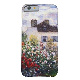 Una esquina del jardín con las dalias de Monet Funda De iPhone 6 Barely There