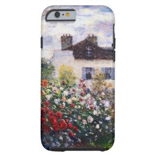 Una esquina del jardín con las dalias de Monet Funda Para iPhone 6 Tough