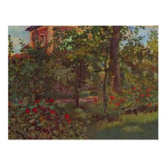 Una esquina en el jardín de Bellevue por Manet Tarjeta Postal