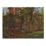 Una esquina en el jardín de Bellevue por Manet Postal
