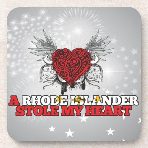 Una estola del isleño de Rhode mi corazón Posavaso