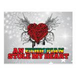 Una estola etíope mi corazón tarjetas postales