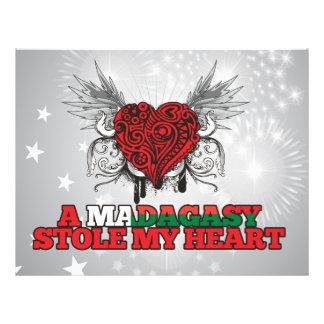 """Una estola malgache mi corazón folleto 8.5"""" x 11"""""""