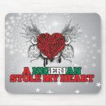 Una estola nigeriana mi corazón tapete de ratones