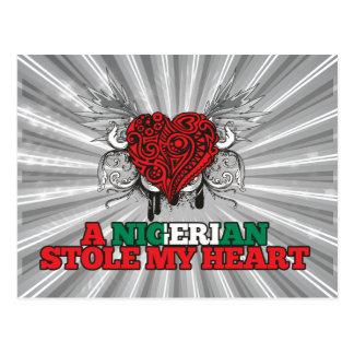 Una estola nigeriana mi corazón tarjeta postal