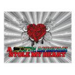 Una estola surafricana mi corazón tarjetas postales