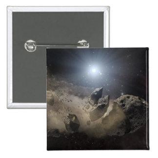 Una estrella enana blanca pin cuadrada 5 cm