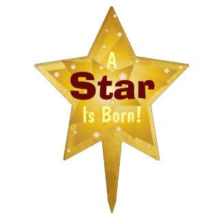 """""""Una estrella es"""" - 4 nacidos Figuras Para Tartas"""