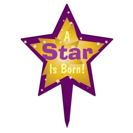 """""""Una estrella es"""" - 7 nacidos Figura De Tarta"""