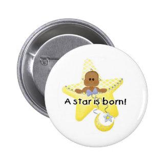Una estrella es afroamericano nacido pin