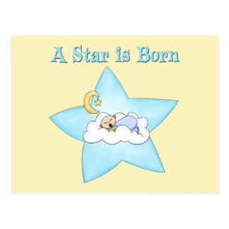Una estrella es bebé nacido tarjeta postal