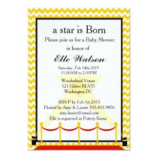 Una estrella es invitación nacida de la fiesta de invitación 12,7 x 17,8 cm