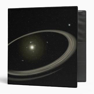 Una estrella joven circundada por los planetas del