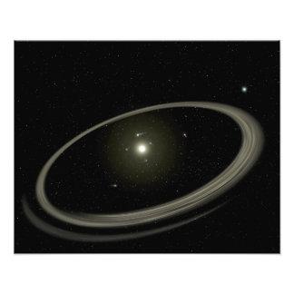 Una estrella joven circundada por los planetas del fotografía