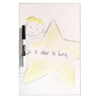 Una estrella nace pizarras blancas de calidad