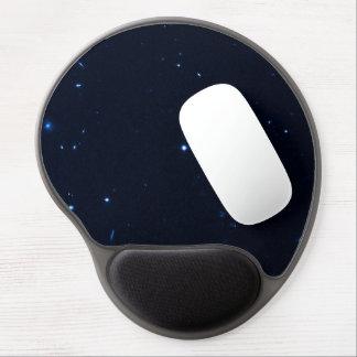 Una estrella que apresura se coge en la cámara de  alfombrilla de ratón con gel