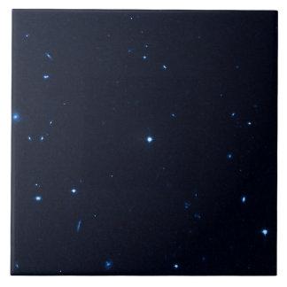 Una estrella que apresura se coge en la cámara de  azulejos