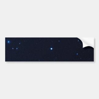 Una estrella que apresura se coge en la cámara de  pegatina de parachoque