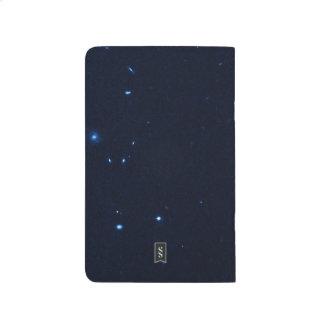 Una estrella que apresura se coge en la cámara de  cuadernos