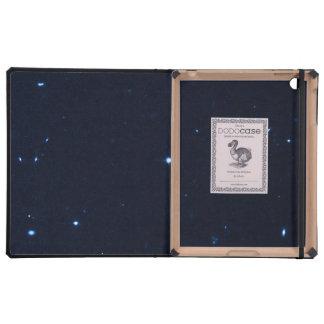 Una estrella que apresura se coge en la cámara de  iPad cárcasa