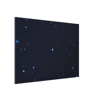 Una estrella que apresura se coge en la cámara de  impresion de lienzo