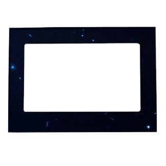 Una estrella que apresura se coge en la cámara de  foto de imanes