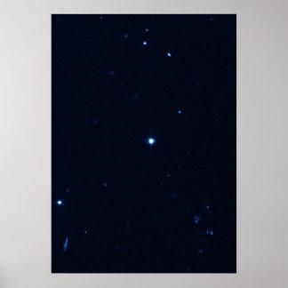 Una estrella que apresura se coge en la cámara de  posters