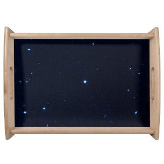 Una estrella que apresura se coge en la cámara de  bandeja