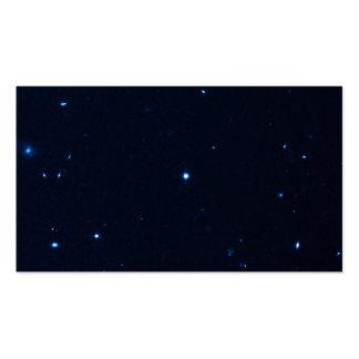Una estrella que apresura se coge en la cámara de  tarjeta de visita