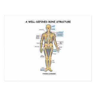 Una estructura bien definida del hueso (esqueleto postal