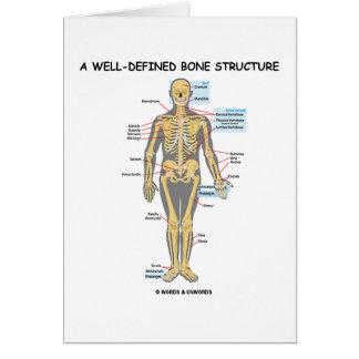 Una estructura bien definida del hueso (esqueleto  tarjeta de felicitación