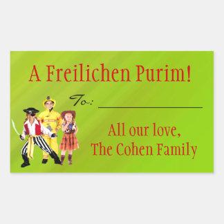 Una etiqueta de Freilichen Purim