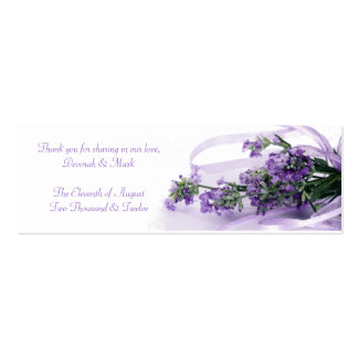 Una etiqueta de la bolsita de la bendición de la l tarjetas de visita