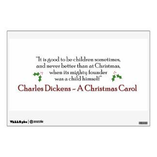 Una etiqueta de la cita del villancico del navidad vinilo adhesivo
