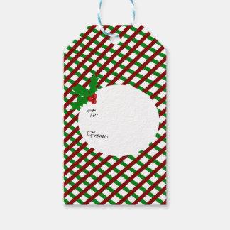 Una etiqueta del regalo del muérdago etiquetas para regalos