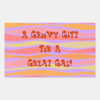 Una etiqueta hecha en casa rayada regalo