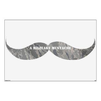 Una etiqueta militar de regla de la pared del bigo vinilo