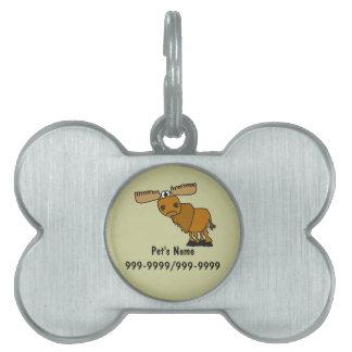 Una etiqueta o un llavero divertida del mascota de placa de mascota