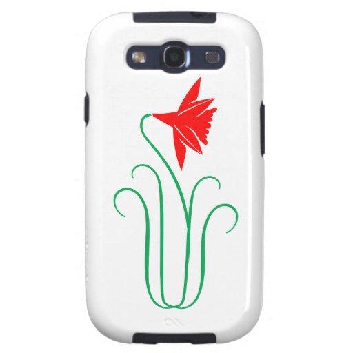 Una exhibición floral ELEGANTE Samsung Galaxy S3 Cárcasas