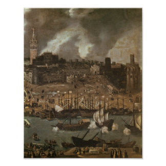 Una expedición que se establece de Sevilla para Póster