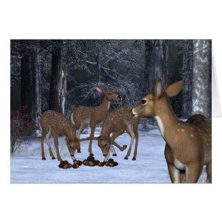 Una familia de ciervos tarjetón