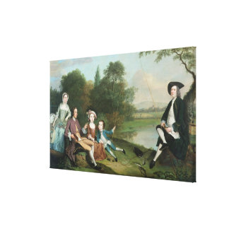 Una familia de pescadores, 1749 impresiones de lienzo